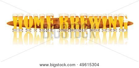 BEER ALPHABET letters HOME BREWING