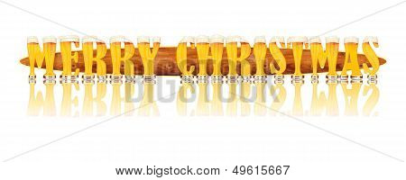 BEER ALPHABET letters MERRY CHRISTMAS