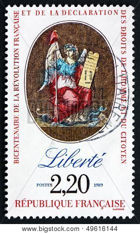 Postage Stamp France 1989 Liberty, Declaration Of Rights