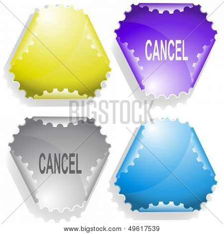 Cancel. Raster sticker. Vector version is in my portfolio.
