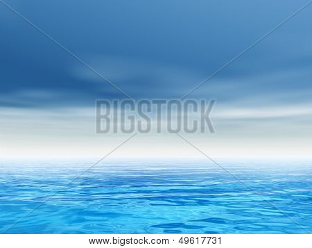 High resolution concept conceptual sea or ocean water waves and sky cloudscape exotic or paradise background background,metaphor to nature,summer,travel,tropical,tourism,environment,vacation holiday