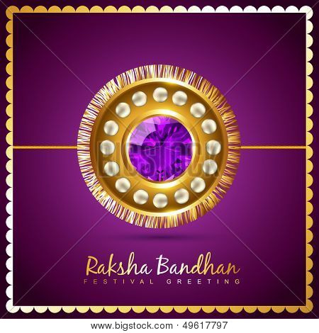 stylish vector hindu raksha bandhan festival background
