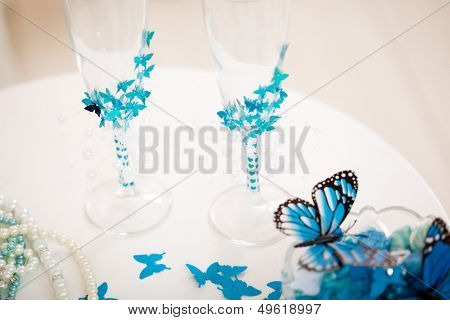 Wedding accessories, stemware