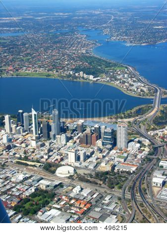 poster of Perth City Aerial View 2
