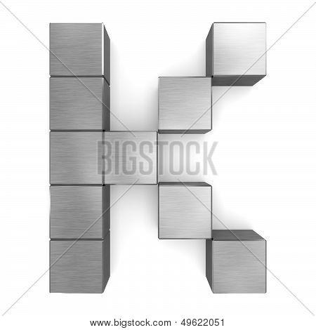 Letter K Cubic Metal