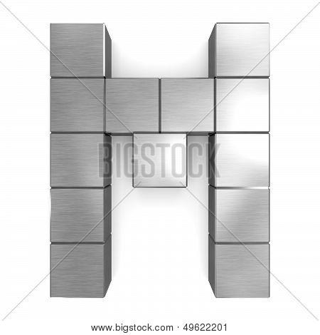 Letter M Cubic Metal