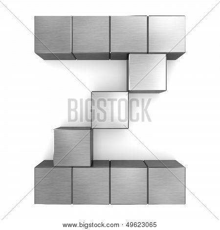 Letter Z Cubic Metal