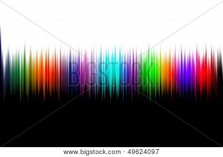 Unique colour background with a wavy colour pattern in the middle and a black and white sides