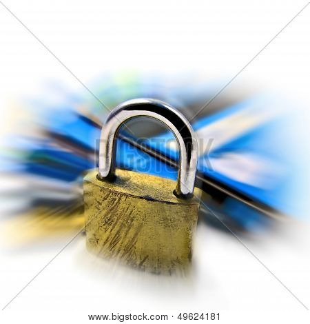 Credit card security safety pin and password