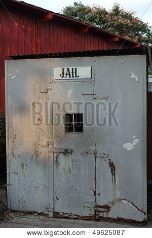 Vintage Jail sign