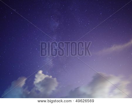 Galaxy with star sky at night
