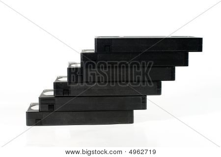 """staircase"" Of Old Video Tapes"