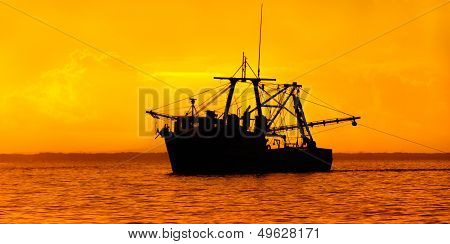 Fishing boat at Dusk - Trinidad and Tobago