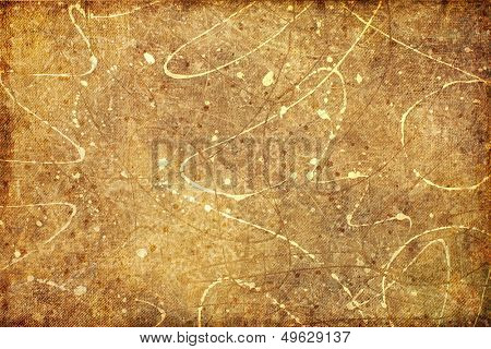 vintage background in grunge style with paint splats
