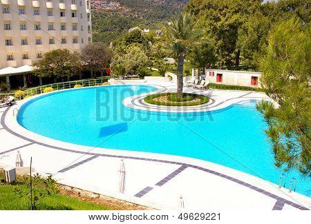 swimming pool on luxury resort