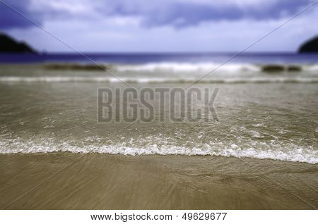 Maracas Beach in Trinidad and Tobago - With selective focus