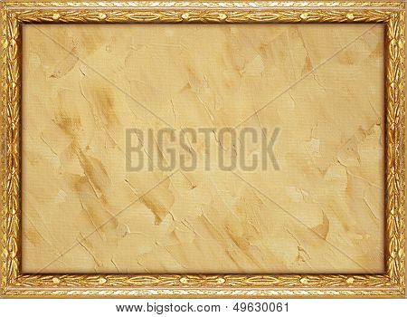 natural painted canvas with frame - ideal for vintage pictures