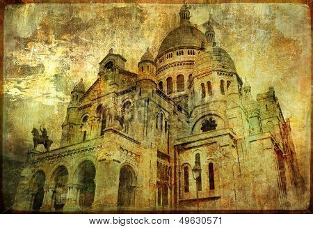Sacre coeur - artwork in painting style