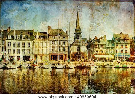 Honfleur town (Normandy) - artistic picture