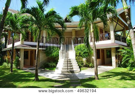 big bungalow in the tropical resort