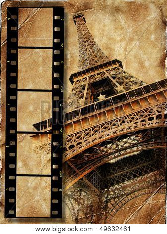 retro photoalbum-Paris