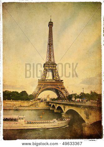 Paris- vintage style picture