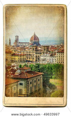 European landmarks series - vintage card- Florence