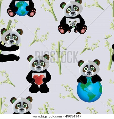 Panda with Earth