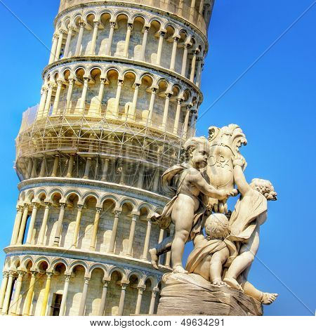 Pisa tower - italian landmarks series