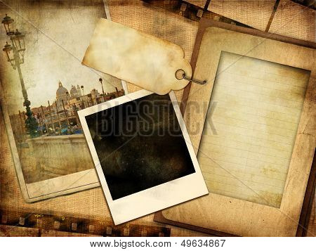 old photoalbum - vintage series with istant frame