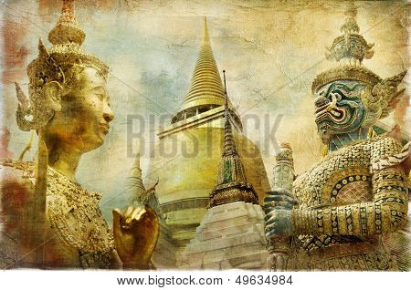amazing Bangkok - artwork in painting style