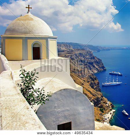 Santorini - Fira town view