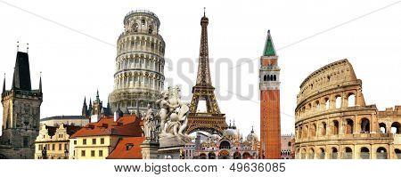 european holidays - travelling background
