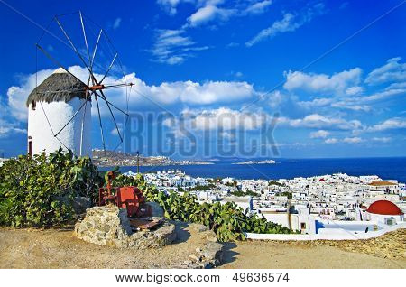 sunny beautiful Mykonos - amazing greek islands series