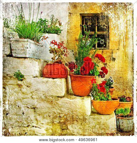 traditional Greece series - retro artwork