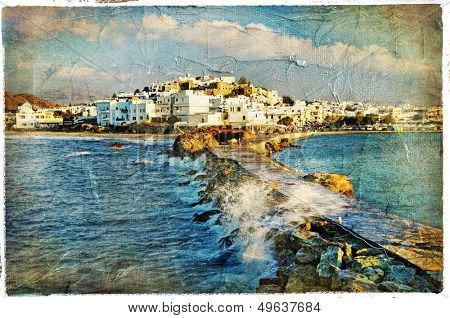 Naxos island,Greece - vintage picture