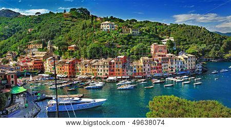Portofino, Italy. stanning view of bay