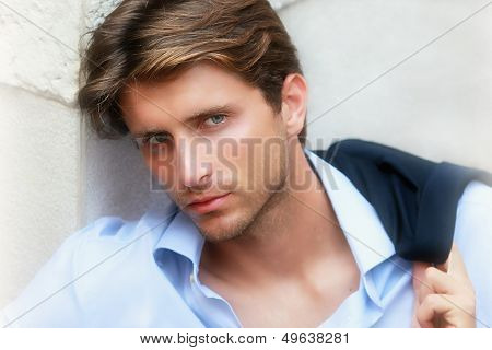 portrait of appealing young man