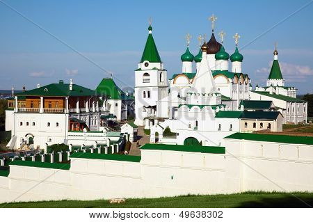 Summer View Of Pechersky Ascension Monastery Nizhny Novgorod