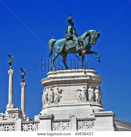 Piazza Venezia Rome, Italy. Monument for Victor Emenuel II.