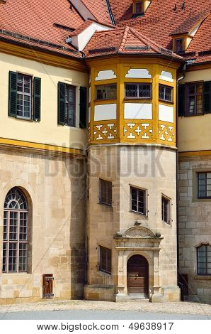 Detailed View In The Court Of Castle Hohentubingen, Germany