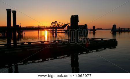 Anacortes Dock At Sunrise