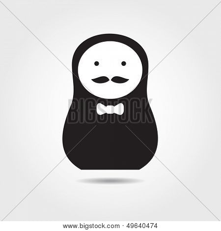 Concept russian matrioshka doll. Men.