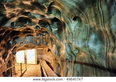 Inside of salt mine shoot on corridor