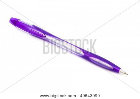 Modern ballpoint pen on a white background