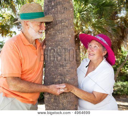 Seniors Playing Peekaboo