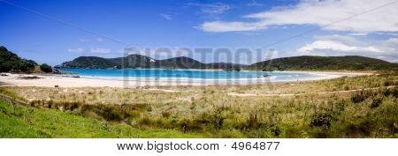 Matai Bay Panorama , Northland, New Zealand