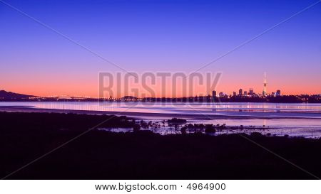 Auckland City Sunrise Panorama 2