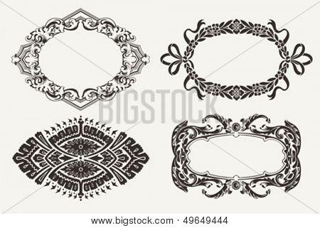 Set Of Four Ornate Frames
