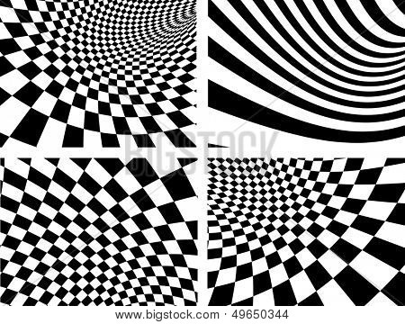 Abstract vector backgrounds - black and white